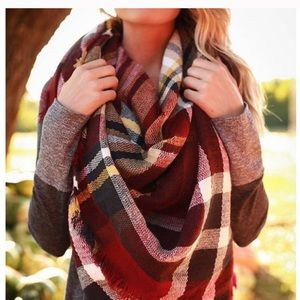 💃🏻Plaid Blanket Scarf